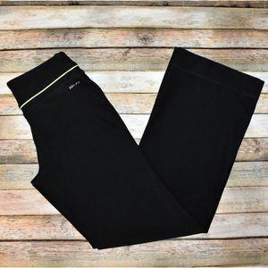 Nike Dri-Fit Athletic Yoga Pants Black / Green S